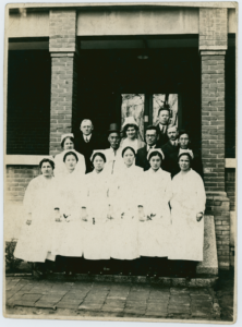 Group of doctors and nurses at Severance Union Medical | Accession 2012.100P/31